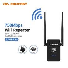 802.11AC WI-FI Маршрутизатор Wi-Fi ретранслятор 11AC Dual Band 750Mbs Comfast Беспроводной WI-FI Маршрутизатор Extender усилитель Английский прошивки