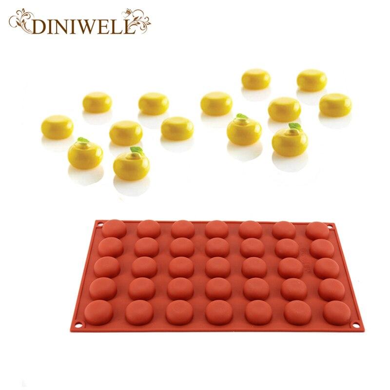 DINIWELL 35 Petit Oeuf Tarte Non-Bâton Silicone Ronde En Forme de Boule Mini Truffes Moule Pour Chocolat Moule de Cuisson Gâteau outils