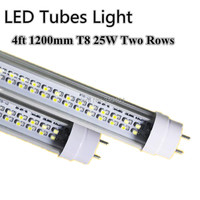 50PCS LED Tube 25W 4ft T8 Double Line LED Lamps Replacement 50W Fluorescent Tubes 1200mm Warm