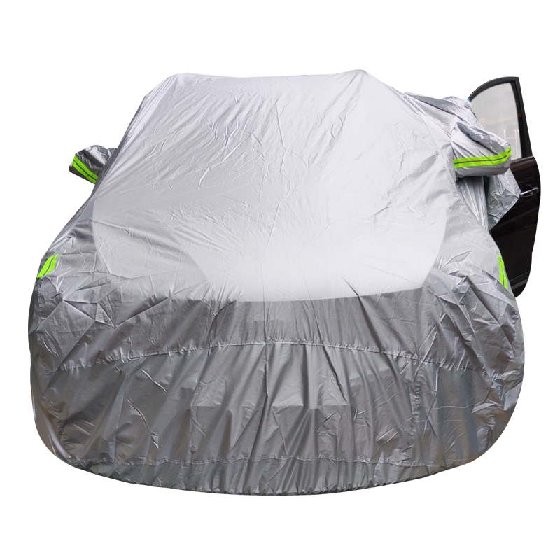 Image 2 - Universal SUV/Sedan Full Car Covers Outdoor Waterproof Sun Rain Snow Protection UV Car Umbrella Silver S XXL Auto Case Cover-in Car Covers from Automobiles & Motorcycles