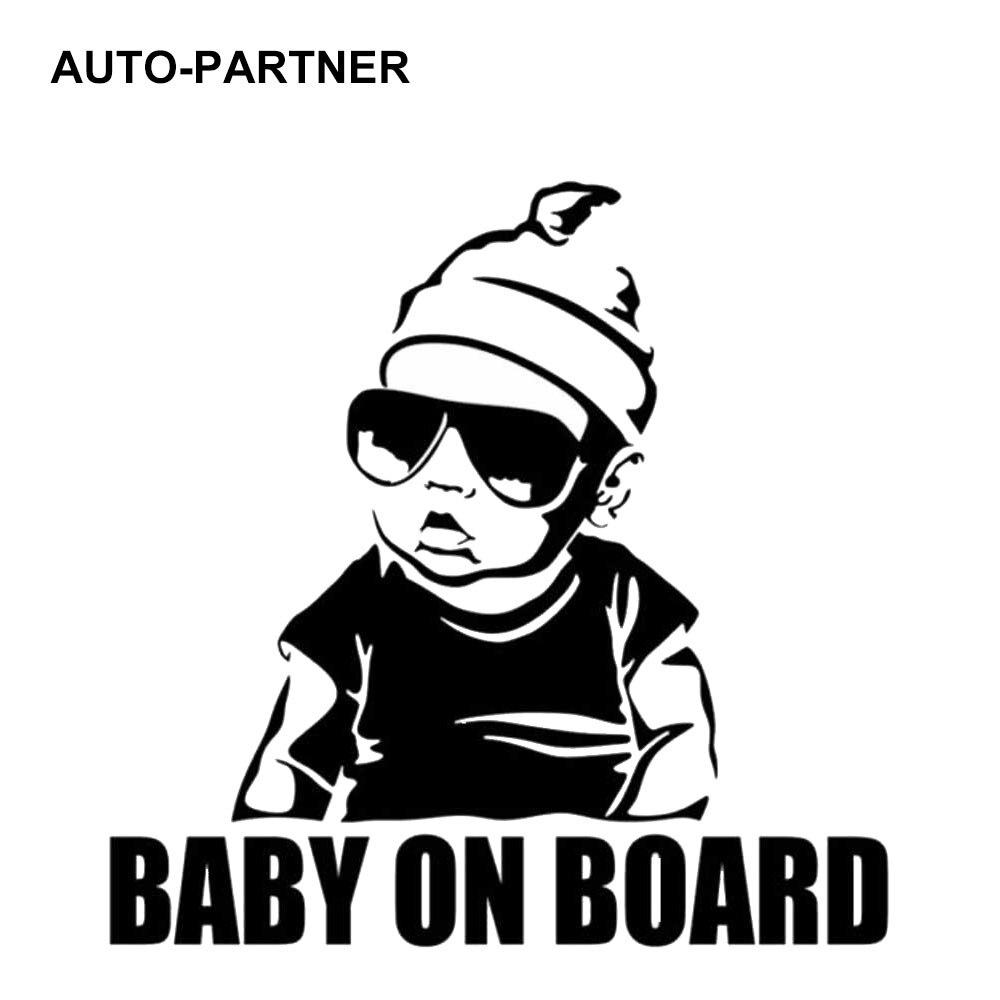 Авто-партнер 15 см x 15 см ребенок на борту сзади магистраль Предупреждение Войти Наклейка Светоотражающие мода автомобиль стикеры безопасно...