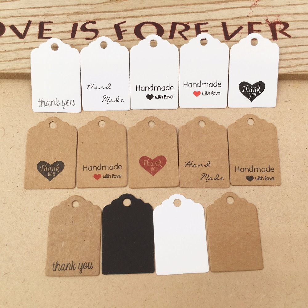 100 pcs DIY Kraft Paper Tags Head Label Luggage Wedding Party 3x2cm  Blank Price  Tag Kraft Gift Hang Tag|Garment Tags|   - AliExpress