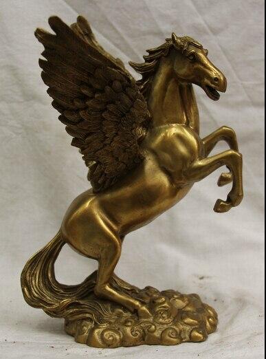 """شحن مجاني S0524 10 """"الصينية النحاس الشعبية يطير زودياك السنة النجاح تانغ تمثال حصان فنغ شو 35%"""