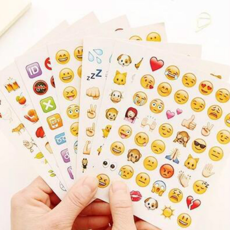 1 Pcs 48 Classic Emoji Smile Face Stickers for Notebook Diary Albums Message Expression Funny Emoji ChildrenToy Sticker new cute head portrait sticker smiling face interesting smile face stickers children kids toy for phone notebook message twitter