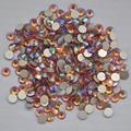 Topaz  AB Color ss3,ss4,ss5,ss6,ss8,ss10,ss12,ss16,ss20,ss30 Flat Back Crystal Non Hotfix Nail Art Glue On Rhinestones
