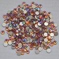 Topaz AB Color ss3, ss4, ss5, ss6, ss8, ss10, ss12, ss16, ss20, ss30 posterior plana del Hotfix no Nail Art pegamento en los Rhinestones