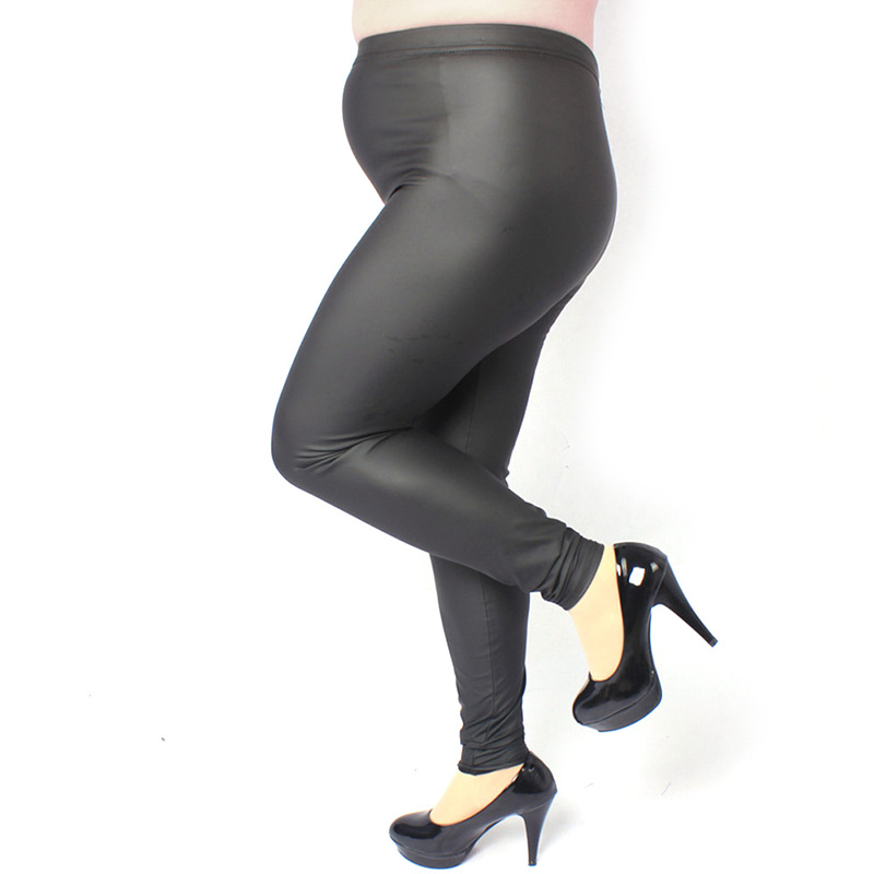 Sexy Women High Waist Stretch Jeggings Faux Leather Leggings Plus Size Pants