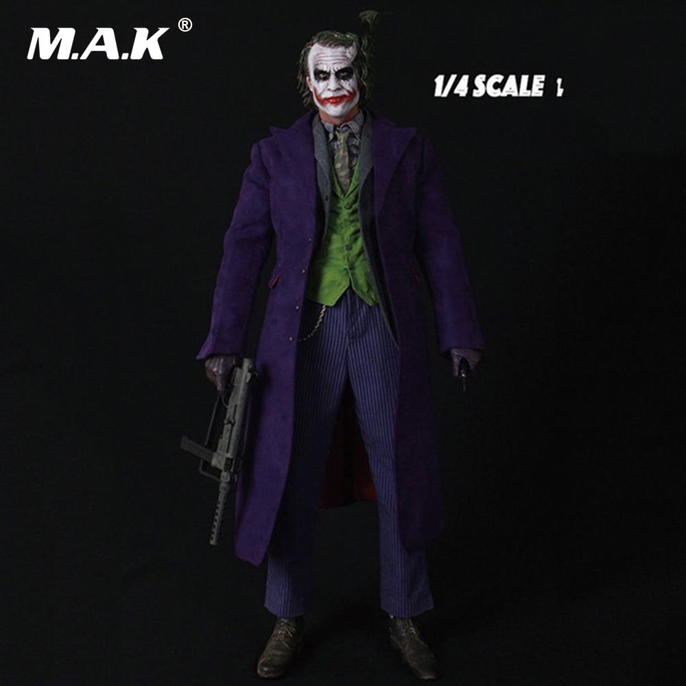 18 дюйм(ов) Бэтмен Джокер 1/4 масштаб Хит Леджер Глава Sculpt & Костюмы комплект и тело полный набор цифры коллекции хобби