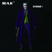 18 inches Batman The Joker 1/4 Scale Heath Ledger Head Sculpt & Clothing Suits Set and Body Full Set Figures Collections Hobbies