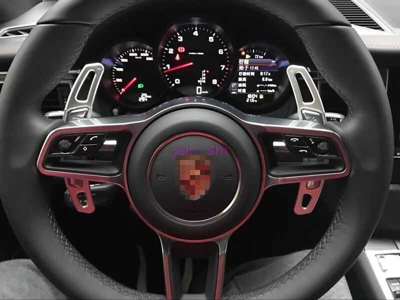 3 colors Car Steering Wheel Paddle Shift Paddle Shifter DSG Car-styling For  Porsche Macan 911 718 991 Cayman 981 etc Accessories