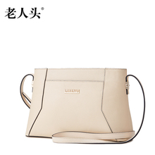 2016 new European and American style 100% natural cowhide genuine leather messenger bags for women bucket shoulder bag