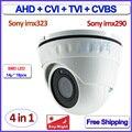 4em1 CVI TVI AHD câmera dome imx323 imx290 Sensor 1080 P 2.0MP câmera de segurança de vigilância, Diodos Emissores de Luz SMD, Lente de 3.6mm, CVBS, OSD
