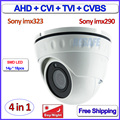 4in1 AHD CVI TVI dome camera imx323 imx290 Sensor 1080P camera security 2.0MP surveillance, SMD LEDs, 3.6mm Lens, CVBS, OSD