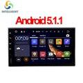 Android 5.1 HD 1024*600 pantalla Quad core RAM 1G ROM 16G 2 DIN universal car radio gps con wifi audio estéreo del coche sin DVD JUGADOR