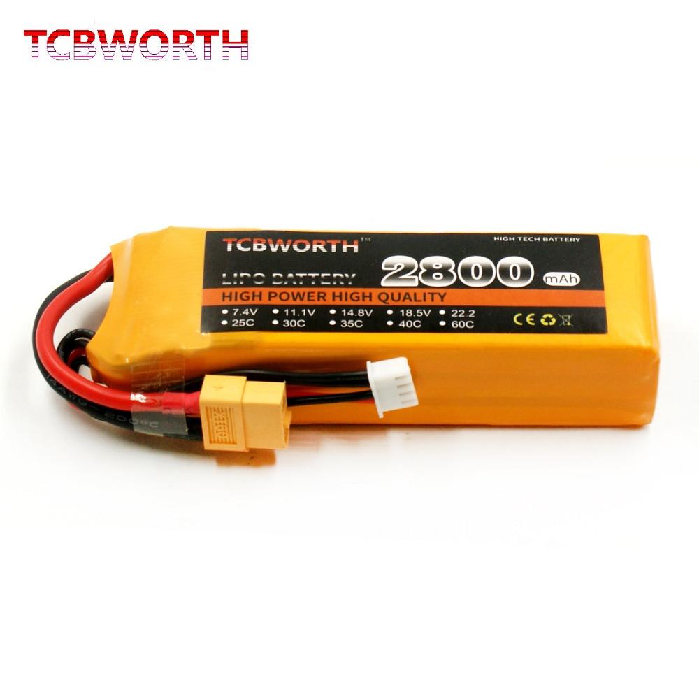 TCBWORTH RC 2 S LiPo batterie 7.4 V 2800 mAh 35C Max 70C Pour RC Avion Hélicoptère Quadrirotor Li-ion batteria cellulaire AKKU