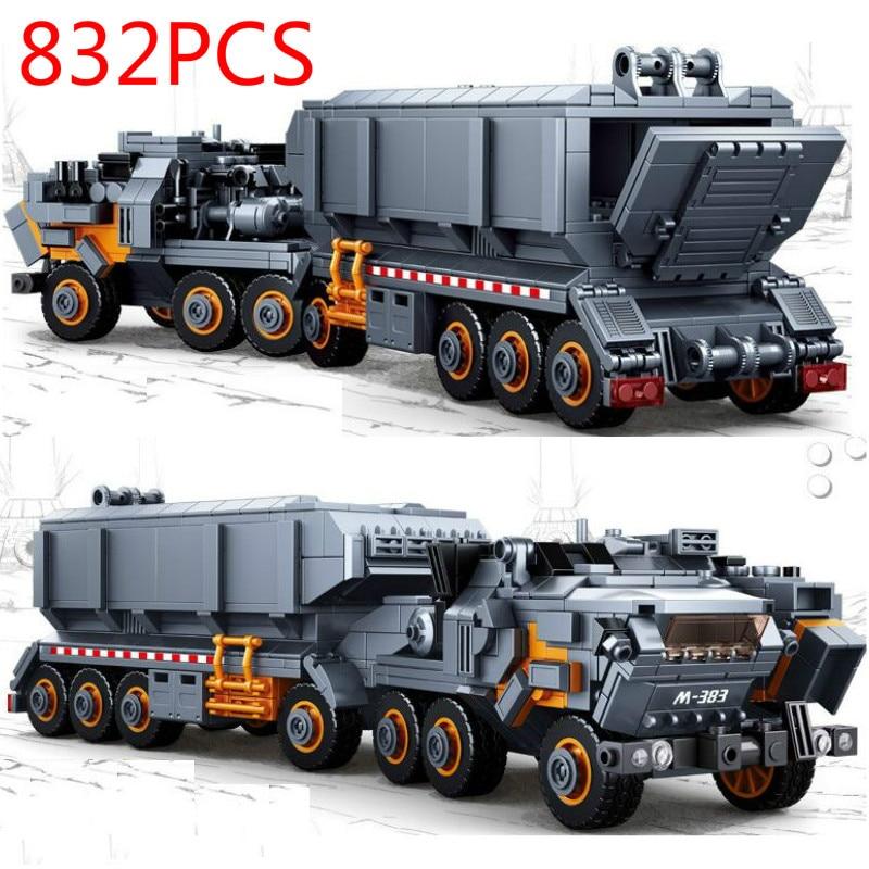 Movie 2 Wandering Earth Heavy Transport Vehicle Truck Compatibie Building Blocks Toy Kit DIY Children Birthday