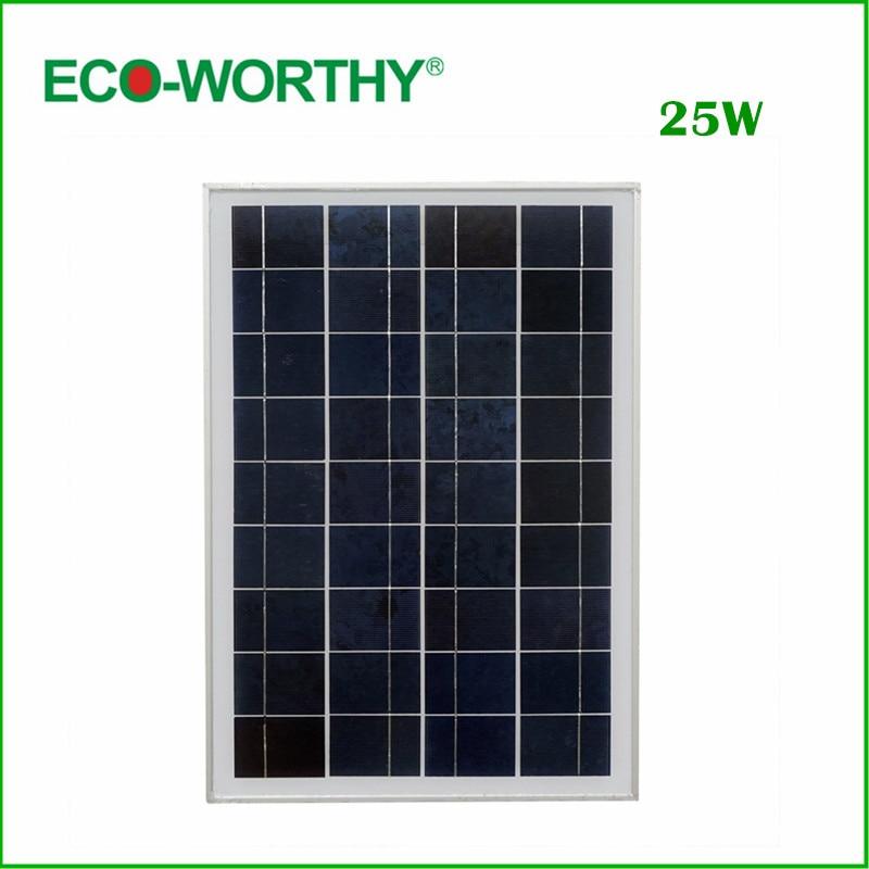 ФОТО DE Stock No Tax 1piece 25 W 18V Poly Solar Panel for Charging 12V Battery Solar Generators