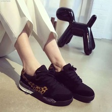 2016 New Arrival Women's Leopard  Blue Casual Shoes Genuine Leather Suede Cowhide Autumn Winter Shoes for Women