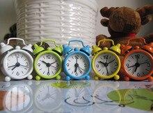 Creative alarm clock Cute Mini Metal Small Alarm Clock Electronic loud despertador reloj