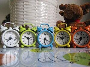 Creative alarm clock Cute Mini Metal Small Alarm Clock Electronic Small loud alarm clock despertador reloj despertador(China)