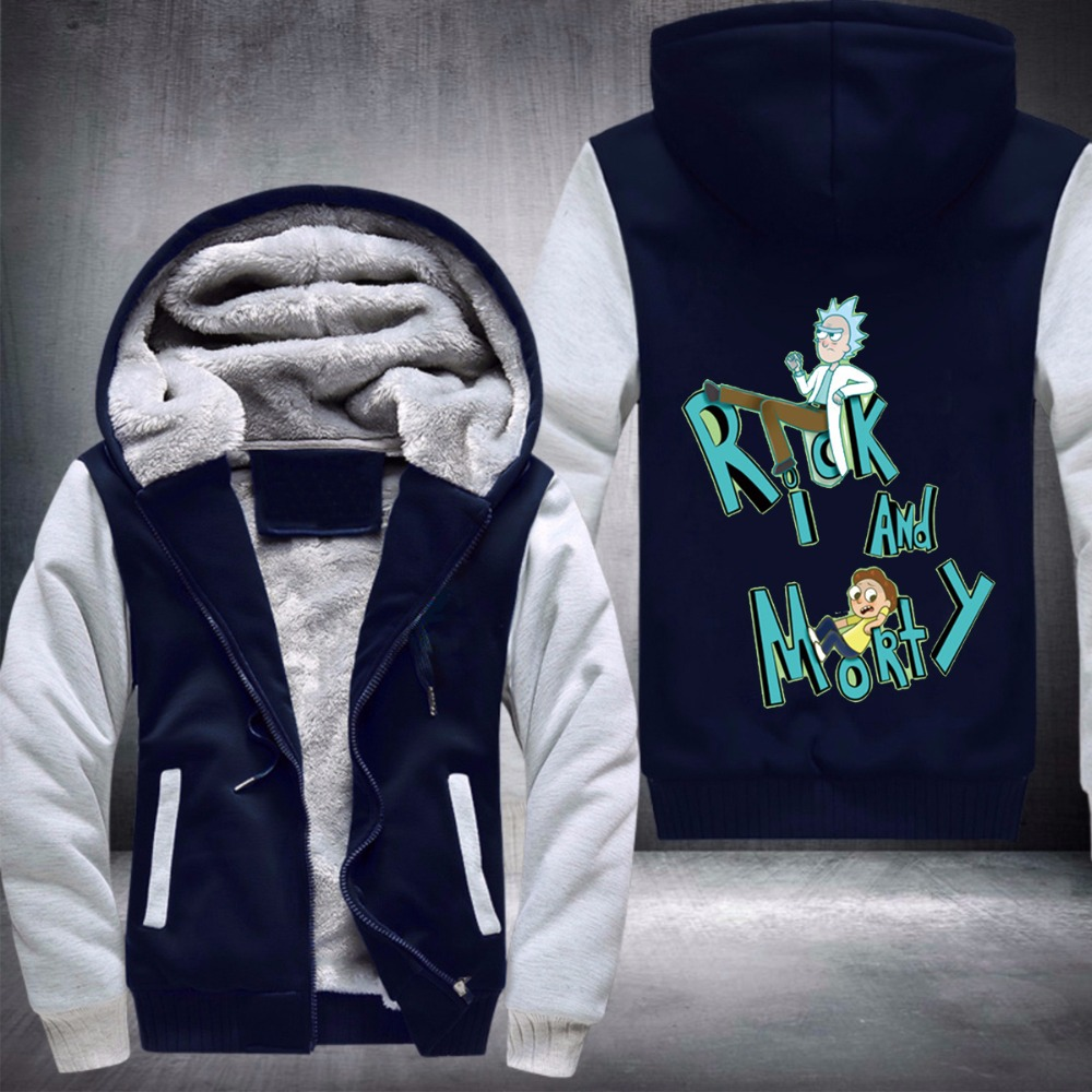 The New Rick and Morty Best Selling Men's Thickened Fleece Hoodies with Fast Shipping