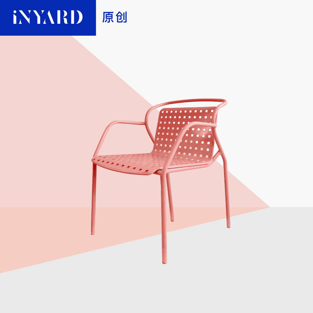 [InYard original] petal chair/Nordic outdoor balcony chair/soft bag dining chair can be stacked with metal chairs chair for fair exhibition chair outdoor chair can be folded