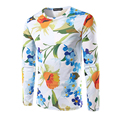 Brand New Men's T-shirt Long Sleeve O Neck Male 3D Flower Design Tee Shirts HigH Quality t shirt men Fitness Autumn Clothing