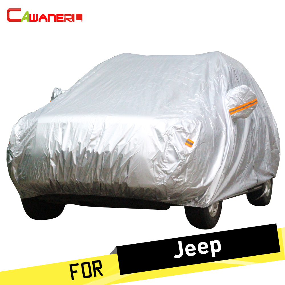 Cawanerl SUV Car Cover Outdoor Sun Snow Rain Resistant Cover For Jeep Grand Cherokee Wrangler Commander