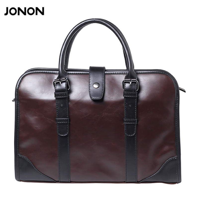Jonon Brand Men PU Leather Bag Business Men Bags Briefcase Luxury Shoulder Bags Laptop Crossbody Messenger Bag Handbag fashion men bags business briefcase handbag pu leather multi style luxury shoulder messenger travel bag high quality men s bag