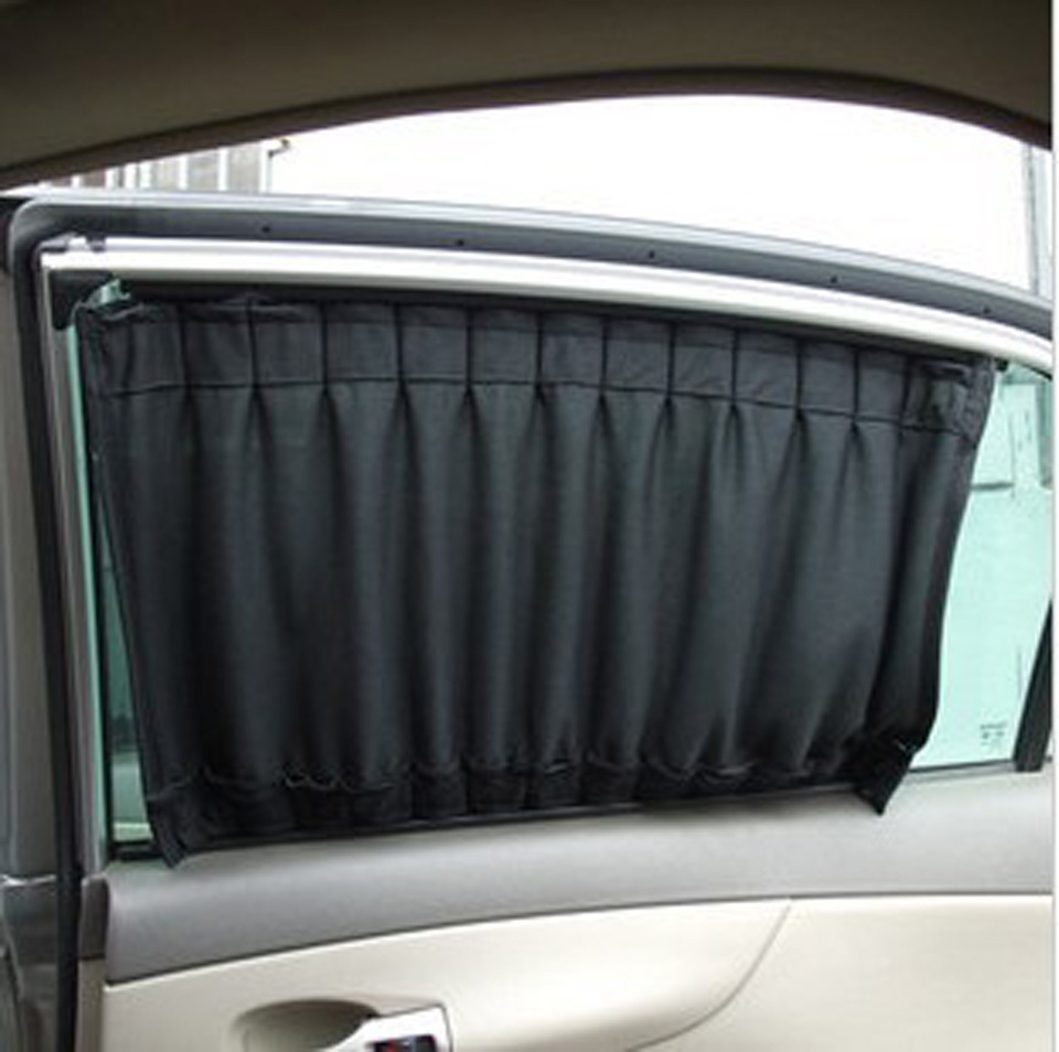 buy 70cm wide universal use anti ultraviolet car window sunshade curtain black. Black Bedroom Furniture Sets. Home Design Ideas