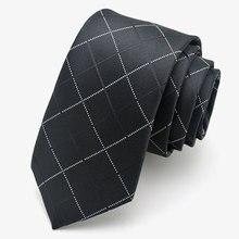 Black narrow tie solid floral geometric plaid striped 5cm casual neck tie slim skinny for men