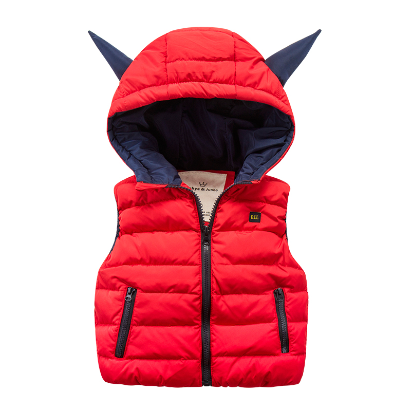 2016 new kids children cotton vest winter sweater vest zipper color three dimensional cartoon baby boy