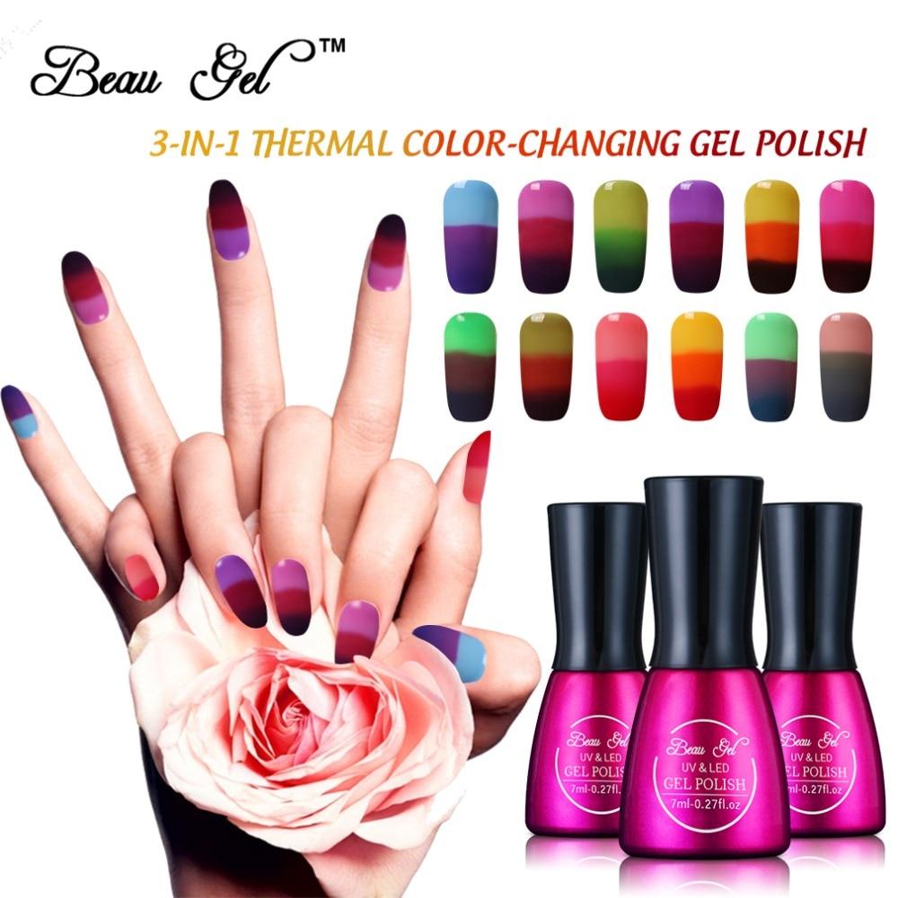 Color Changing Gel Nail Polish: Aliexpress.com : Buy Beau Gel Chameleon Temperature Color