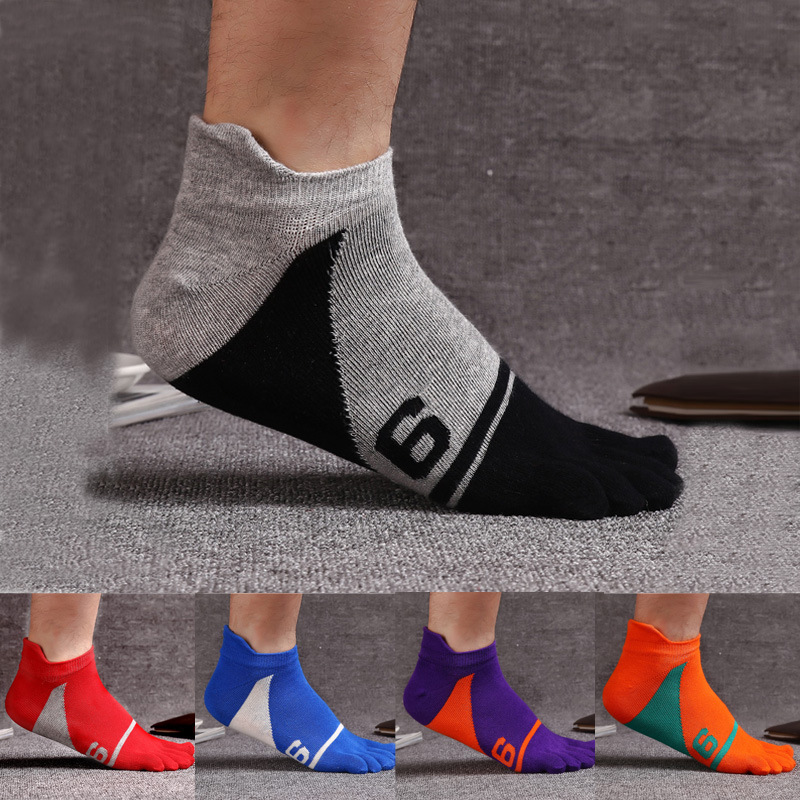 5 Pairs/lot Mens Socks Cotton Five Finger Socks Toe Socks Ankle Sok