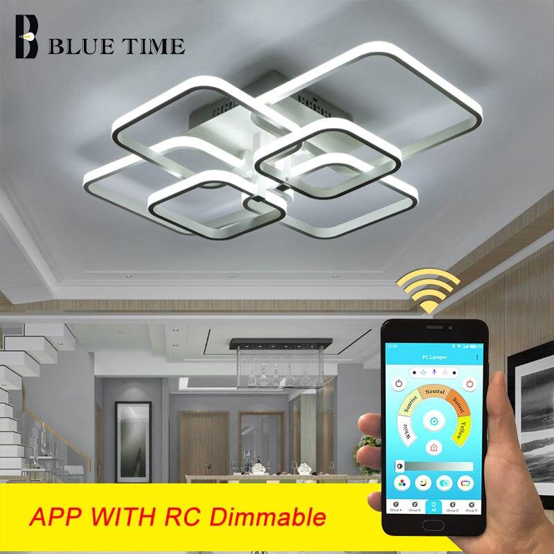 Plafond moderne à LEDs lumière 110V 220V plafond moderne à LEDs lampe salon salle à manger cuisine chambre Led Lustres maison lampes d'intérieur