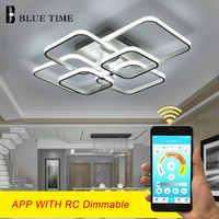 Современный светодиодный потолочный светильник 110 В 220 В, современный светодиодный потолочный светильник для гостиной, столовой, кухни, спа...