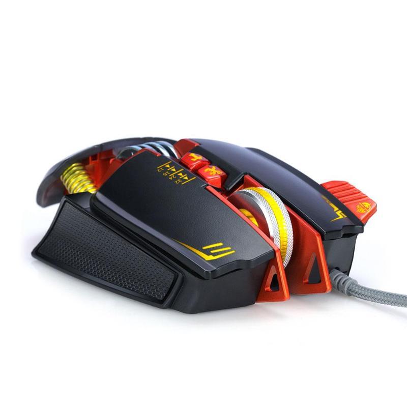 712d4ca5f23 2019 Mechanical Gaming Mouse Adjustable DPI 7 Backlights 8 Keys ...