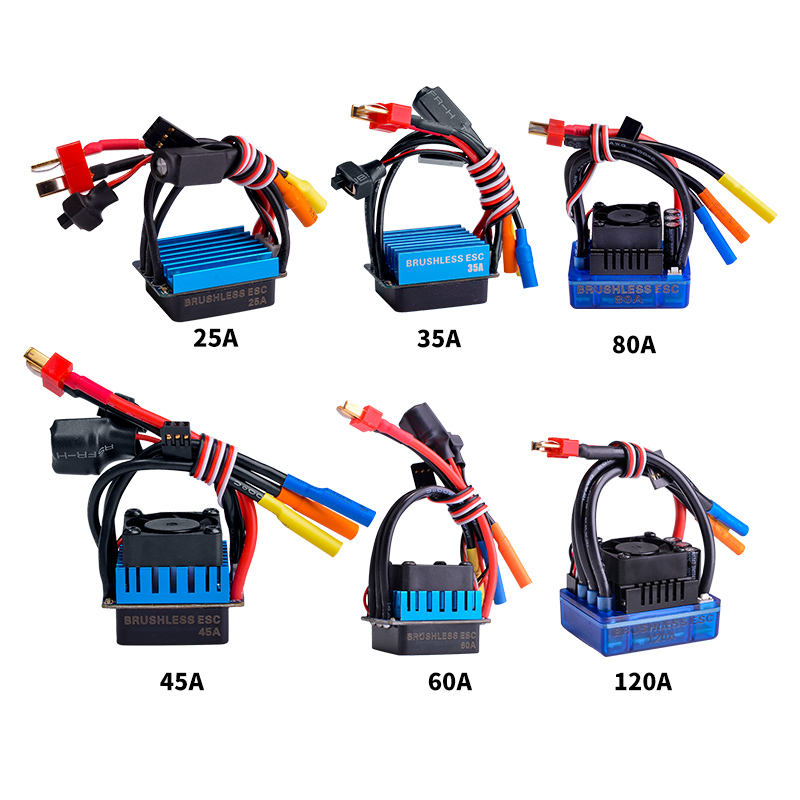 цена на 25A 35A 45A 60A 80A 120A Brushless Senseless BOAT ESC Speed Controller Waterproof RC Boat Part