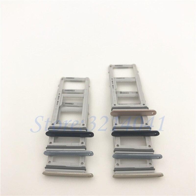 20Pcs/Lot Good quality Original Single & Dual SIM Card micro SD Tray Slot Holder For Samsung Galaxy A320 (A3 2017 Version )