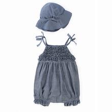 Детская Одежда Новорожденных детская Одежда Комбинезон Малыша Девушка Комбинезон Ropa де Bebes Infantil Тела костюмы в шляпе Bebek Giyim Enfant