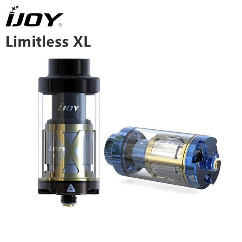 100% оригинал IJOY безграничны XL Танк 4 мл топ-заполнения Дизайн Sub Ом бак и RTA 50 Вт- 215 Вт вентилятор стиле воздуха ввиду распылитель
