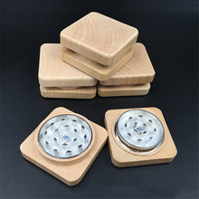 Creative classic Smoking Crusher Square Wooden Herb Grinders  Cigarettes Accessories Hookah Pipe
