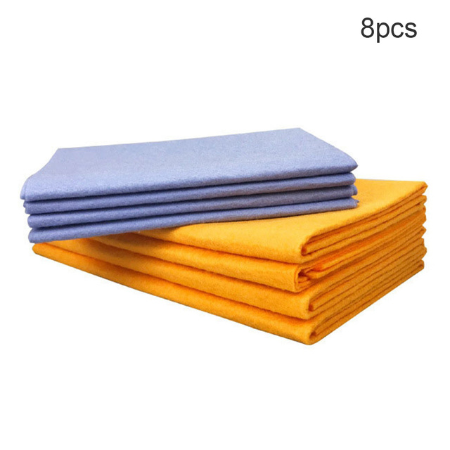 8PCS Super Absorbent Towels Anti-grease Bamboo Fiber DishCloth Washing Towel Kitchen Cleaning Wiping Rags Towel DropShipping