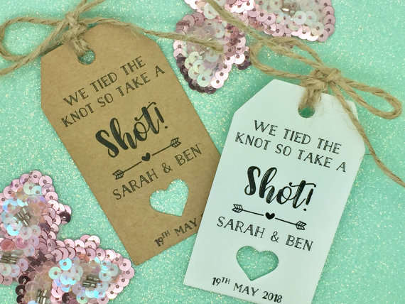57e19e5b1c71 US $13.48 10% OFF|personalized Take a Shot wedding welcome thank you  HANGOVER KIT Gift Tags wine Bottle Candy Sweetie Guest Labels booking  Cards-in ...