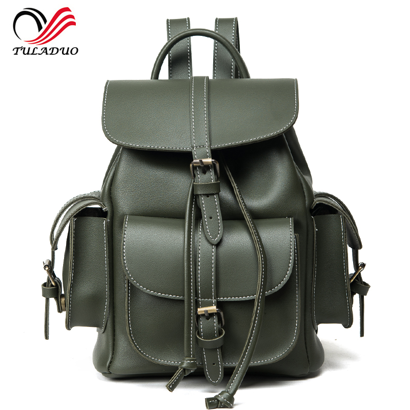2017 New Women Backpack Vintage Backpacks for Teenage Girls Fashion Travel Famous Brand High Quality PU Leather Rucksack Mchila designer backpack women school bag 2017 backpacks for teenage girls famous brand leather backpack black fashion high quality