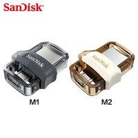 SanDisk OTG USB флеш-накопитель 32 Гб 64 Гб USB 3,0 двойной флеш-накопитель мини Флешка высокоскоростной sdd3 U диск для ПК и телефона Android