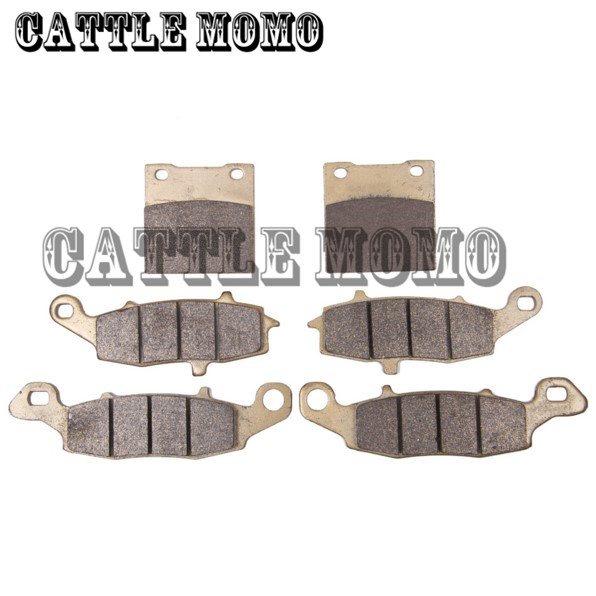 Sintered Copper Metal Front & Rear Motorcycle Brake Pads For Suzuki SV 650 GSF600 Bandit GSX 600 750 Katana Motorbike Brake Pads  motorcycle brake pads front disks for suzuki gsx 750 fw fx fy fk1 fk6 katana 1998 2206 motorbike parts fa231