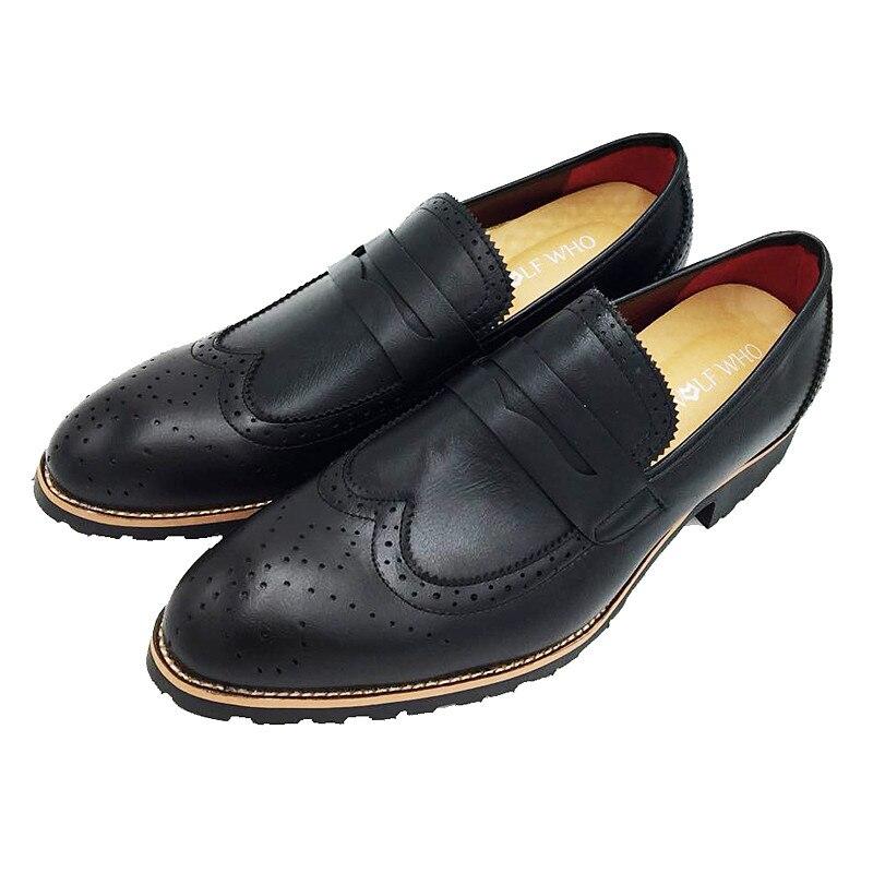 Qualité Wolfwho Chaussures yellow Black Sur Bullock Masculino Oxfords Sociale D'affaires Slip En red Derbies Cuir Hommes Sapato Haute Robe pXp1rT5