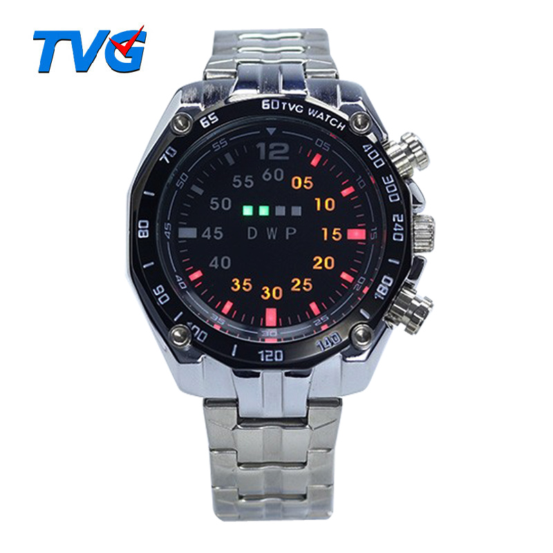 Mode Binary Uhr Männer Led Digital Uhr Männer Sport Uhren Edelstahl Herren Uhr Uhr Erkek Kol Saati Reloj Hombre Digitale Uhren Uhren