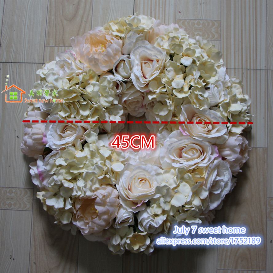 Sweet New Home Artificial Silk Flower Wall Wedding Background Road